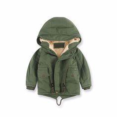 Kids Fleece Lined Hooded Winter Coat