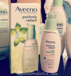 AVEENO® POSITIVELY RADIANT® DAILY MOISTURIZER BROAD SPECTRUM SPF 30   http://mamaholistica.com/2013/04/22/piel-radiante-…activenaturals/