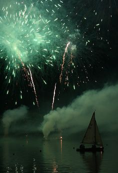 Night Sailing on the Maschsee Lake & Fireworks ~ Hannover, Germany