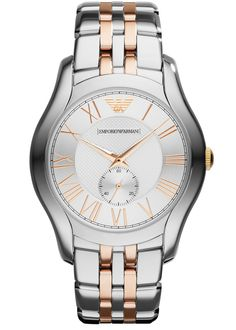 EMPORIO ARMANI VALENTE STAINLESS STEEL MEN'S WATCH AR1824 £289.00  Sleek and chic, this Valente stainless steel watch from Emporio Armani is the perfect fusion between timeless classic style and chic modernity. #emporioarmani #valente