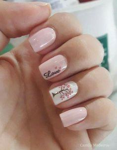 nails Pink Nail Designs, Nail Polish Designs, Stylish Nails, Trendy Nails, Cute Acrylic Nails, Cute Nails, Pink Nails, My Nails, Nagellack Design