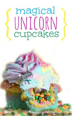 How to Make Magical Unicorn Cupcakes from Scratch