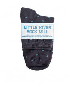 Little River Sock Mill Polka Dot Anklet