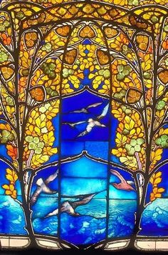 jugendstil stained glass