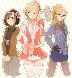 #Nyo!Japan #Nyo!France #Nyo!England <3 they're all cuties <3