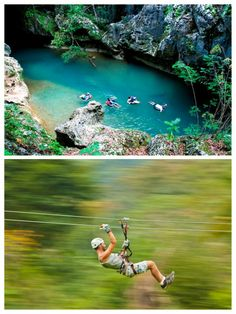 Did a repel into the water, then cave tubing, followed by zipling in Belize. SO much fun! ~ Feb 2014