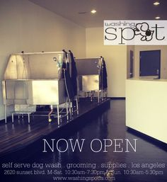 Washing Spot is your favorite self serve dog wash in Los Angeles. We offer great services at affordable prices. Our store provides everything you need to wash those dirty spots clean. Just bring in your dirty dog and we'll take care of the prep and clean up and if you don't got the time we can also take care of the grime for you! Stay tuned as we will also be providing full grooming services and top quality products to make Washing Spot your one-stop for all your pets needs!