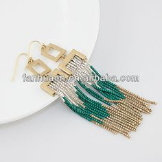 Aliexpress.com : Buy New arrival fashion tassel design chains earrings with free shipping from Reliable tassel earrings suppliers on Fanhua Jewelry Factory