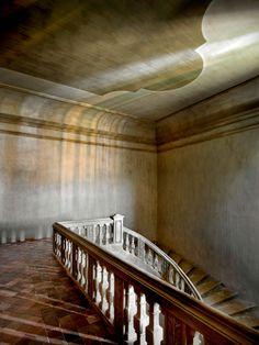 L'escalier monumental du château