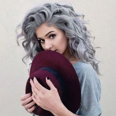 Pretty suggestions and ideas for girls that like silver shades and have curly…