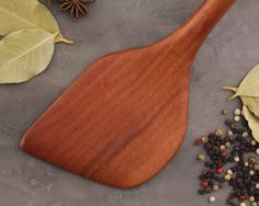 Wooden spatula Wood spatula Wooden cooking by Ceibadesign