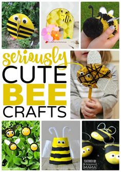 15 Seriously Cute Kids Crafts - Featuring Bees - Perfect for a Preschool Unit or Just for Summer Fun - at B-Inspired Mama Cute Kids Crafts, Crafts For Kids To Make, Craft Activities For Kids, Preschool Crafts, Toddler Activities, Projects For Kids, Bee Activities, Spring Activities, Toddler Preschool