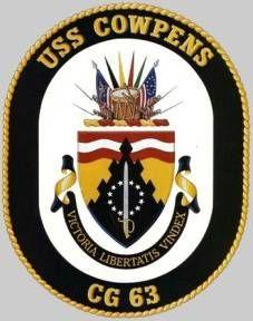 USS Cowpens CG 63 - patch crest insignia