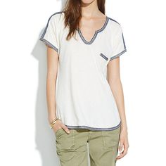 Stitchery Pocket Tee - short sleeve - Women's TEES & MORE - Madewell
