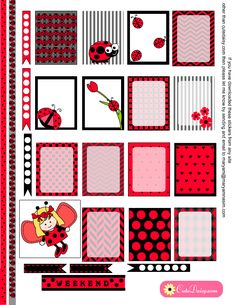 Ladybug Stickers for Erin Condren Life Planner