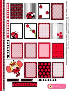 Ladybug Stickers for Erin Condren Life Planner