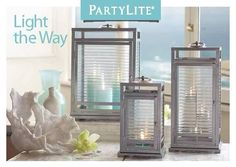 biz/alvita With a flair for modern design, our new lantern casts a brilliant light. Block-pattern optic glass panels magnify the height of the flame. Partylite, Flameless Candles, Stay At Home Mom, Pattern Blocks, Glass Panels, Home Decor Items, Decoration, In The Heights, My House