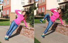 Side plank knee crunch