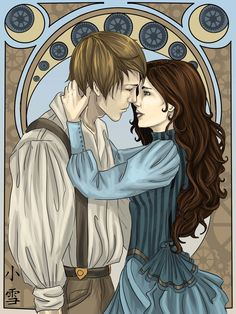 Steampunk Nouveau by Sombrewood (plain gorgeous) ... cecily herondale, gabriel lightwood, the infernal devices