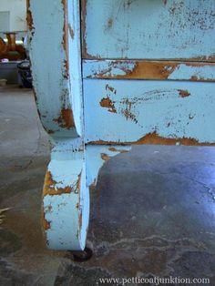 aqua chips blue chippy paint