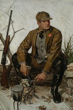"""Frank Leyendecker """"Lunchtime"""" 