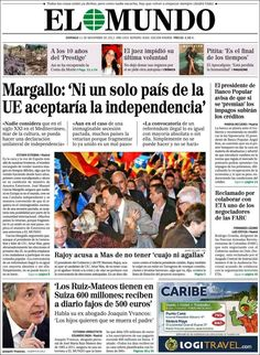 Beldurra: Europako Batasunak ez luke onartuko Katalunia independentea
