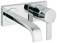Grifo lavabo mural Grohe Allure S Bathroom Light Fixtures, Bathroom Sink Faucets, Vanity Faucets, Wall Mounted Basins, Shops, Basin Mixer Taps, Amazing Bathrooms, Chrome Finish, Small Bathroom