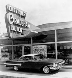 Vintage Chevrolet Buick Car Dealership