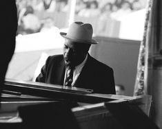Thelonious Monk was taken back stage at the Monterey Jazz Festival circa 1960's #Jazz