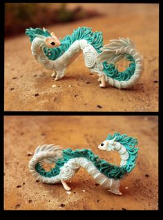 Little ermine-dragon by *hontor on deviantART-- haku Polymer Clay Kawaii, Polymer Clay Dragon, Polymer Clay Animals, Polymer Clay Art, Polymer Clay Projects, Polymer Clay Creations, Crea Fimo, Clay Figurine, Cute Clay
