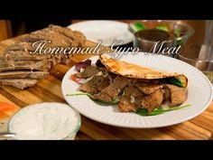 Ultimate Gyros/ Best Gyros/ How to make Gyro Meat/ Gyros/ Easy Gyro recipe Turkish Recipes, Greek Recipes, Meat Recipes, Food Processor Recipes, Cooking Recipes, Healthy Recipes, Lamb Gyros, Gyro Meat, Greek Dishes