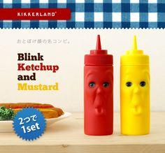 KIKKERLAND            BLINK KETCHUP & MUSTARD