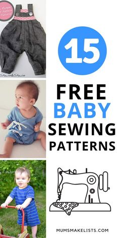 FREE baby clothes patterns (Sewing) Here is my list of the best FREE sewing patterns for baby clothes. SIMPLE to use FREE baby clothes patterns. EASY TO MAKE. Plus FREE learn to sew video tutorial Baby Romper Pattern Free, Baby Pants Pattern, Toddler Sewing Patterns, Free Baby Patterns, Pdf Patterns, Toddler Boy Romper, Toddler Boy Outfits, Hipster Toddler, Sewing Baby Clothes