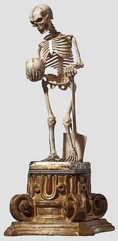 A German ivory figure of death, 19th century