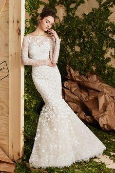 Off-the-shoulder fishtail wedding dress