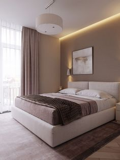 small apartment decorating 556335360218611496 - COFFEE MINIMALISM, small apartment in Kiev, Ukraine on Behance Source by oulb Modern Luxury Bedroom, Luxury Bedroom Design, Room Design Bedroom, Bedroom Furniture Design, Bedroom Layouts, Home Room Design, Luxurious Bedrooms, Home Decor Bedroom, Home Interior Design