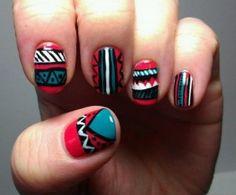 20 Εντυπωσιακές ιδέες για Tribal Nails! art ideas