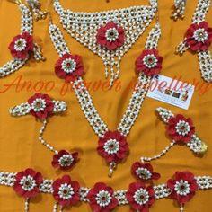 Buy Artificial Flower Jewellery | Anoo Flower Jewellery Flower Ornaments, Flower Garlands, Flower Decorations, Flower Jewellery For Mehndi, Jewellery Uk, Flower Jewelry, Tassel Jewelry, Wedding Jewelry, Jewelry Sites