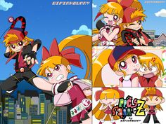 Blossom  brick berserk | Powerpuff Girls Z Blossom And Brick