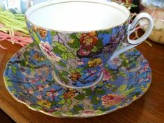 Shelley china. Chintz at its finest. My latest find!!