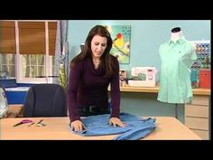 Angela Wolf teaches how to add darts to a shirt on It's Sew Easy