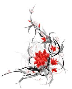 tribal flower tattoo | Labels: flower tattoo designs , flower tattoos , meaning of flowers ...