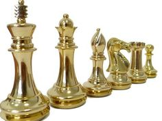 Pieces Chess Set King John Brass
