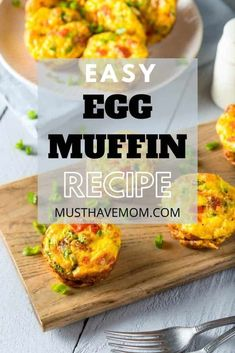 BEST egg muffin recipe! Make ahead breakfast and lunch ideas. Freezer friendly.