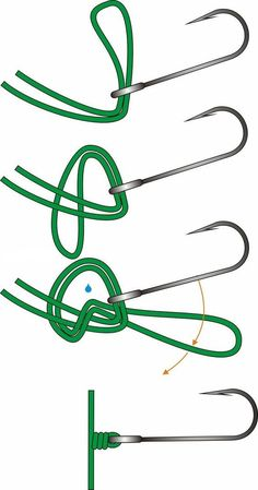 Fishing line with fishing hook tie a knot #fishingknot #fishing #bassfishing #flyfishing