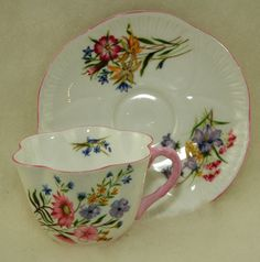Shelley Fine Bone China Cup and Saucer