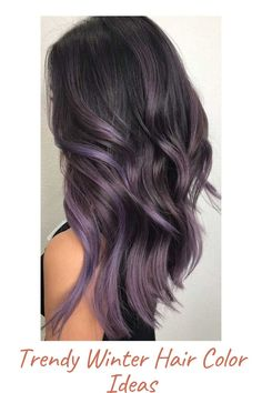 Lavender Hair Colors, Hair Color Purple, Cool Hair Color, Brown Hair Colors, Purple Black Hair, Purple Hair Highlights, Hair Color Ideas For Black Hair, Black To Purple Ombre, Dark Plum Brown Hair