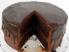 ....Butterfly Treats.....U...: Frosted & Glazed Chocolate Cake Recipe (from scratch)