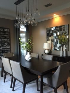 45 elegant and minimalist dining table decor ideas and steps to create a minimalist dining room 1 Dining Room Table Decor, Dining Table Design, Dining Room Sets, Dining Room Furniture, Living Room Decor, Dinning Room Lights, Dinning Room Ideas, Dinning Lighting, Furniture Decor
