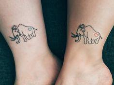 Matching mammoth tattoos ❤️
